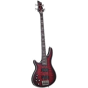 schecter hellraiser extreme 4 left handed 4 string bass guitar crimson red burst. Black Bedroom Furniture Sets. Home Design Ideas