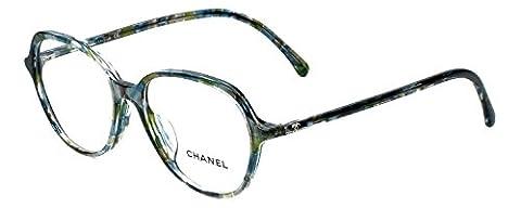 Chanel Designer Eyeglasses 3338A-1522 in Turquoise-Green 53mm DEMO LENS - Chanel Green