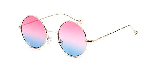 La Vintage Gafas Rosa Frame Se TIANLIANG04 Muestra En Gafas Uv400 Sol Azul Ronda Para Foto Mujeres Ronda De Sol De Como Hwdxnw