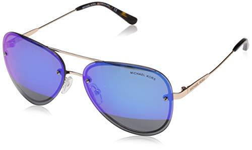 Michael Kors Womens La Jolla 0MK1026 59mm Rose Gold Tone/Block Cobalt Mirror One Size