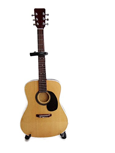 Axe Heaven AC-001 10-Inch Classic Natural Finish Acoustic Miniature Guitar Replica Collectible, Rosewood Finish Back
