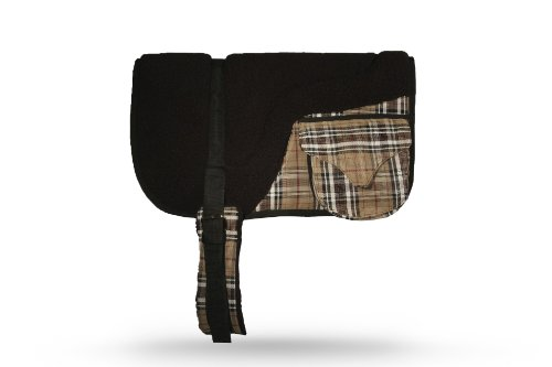 """Kensington Fleece Bareback Pad With Pockets— Heavy Duty Saddle Fleece with 1"""" Thick Foam Center — Measures 29"""" Long and 36"""" Wide"""