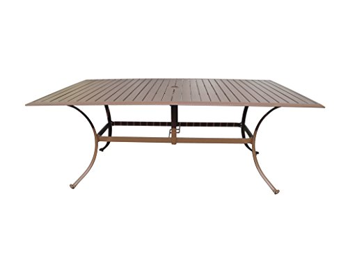 Panama Jack PJO-1001-ESP-72 Island Breeze Slatted Aluminum Rectangular Dining Table, 42