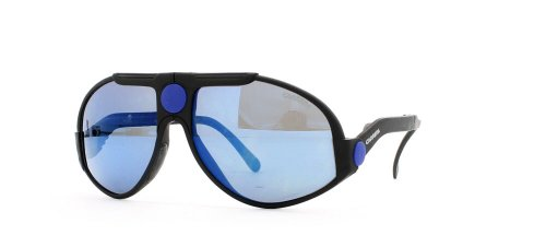 Carrera 5586 95 Black and Blue Authentic Men - Women Vintage - Vintage Carrera Sunglasses