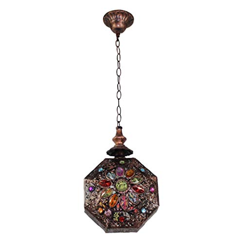 Pendant lights Chandeliers, Bohemian Chandeliers Mediterranean American Country Living Room Lamp Study Cafe Terrace Restaurant Hanging Staircase Lighting [Energy Class A++]