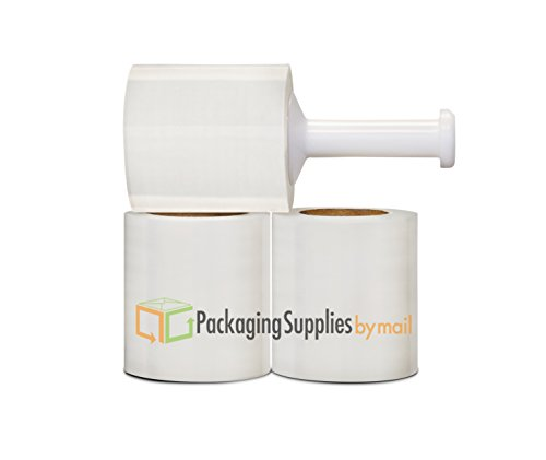 12 Rolls Narrow Banding Cast Clear Stretch Wrap fom PSBM, 5 in. x 600 ft. x 150 Ga by PackagingSuppliesByMail