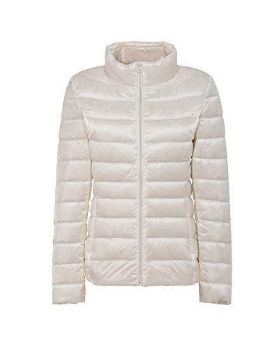 Blanc En Matelassé Ultra Manteau Montant Doudounes Femme Duvet Col Veste Chaud Compressible Légère Blouson HRxZnqO