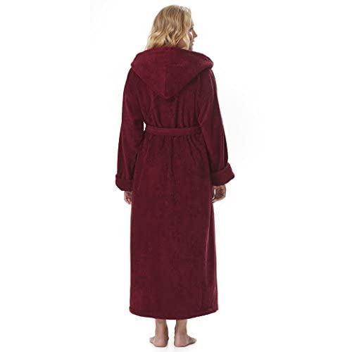 d9b2bfebf4 low-cost Arus Women s Organic Cotton Hooded Full Length Turkish Bathrobe