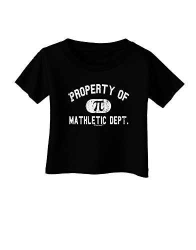 TooLoud Mathletic Department Distressed Infant T-Shirt Dark Black - 18Months