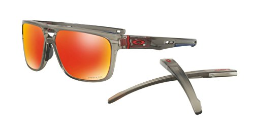 Oakley Crossrange Patch Sunglasses Matte Gry Ink/Prizm Ruby Irid & Cleaning - Prizm Ink