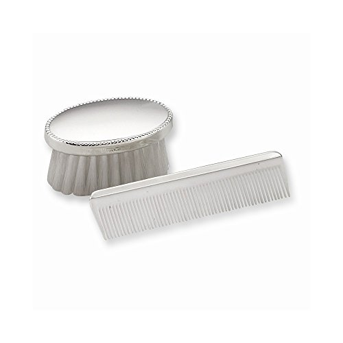 Sterling Silver Gift Boxed Boys Comb and Brush Set by Jewelry Adviser Gifts