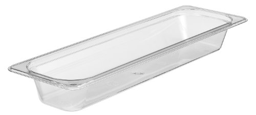 Cambro Camwear Food Pan, 1/2 by 2-Inch, Clear Camwear Clear Food Storage Pan