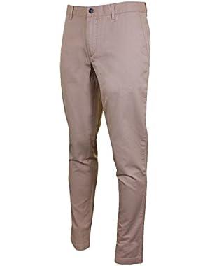Lacoste Men's Men's Beige Gabardine Chino Pants in Size 36 Beige