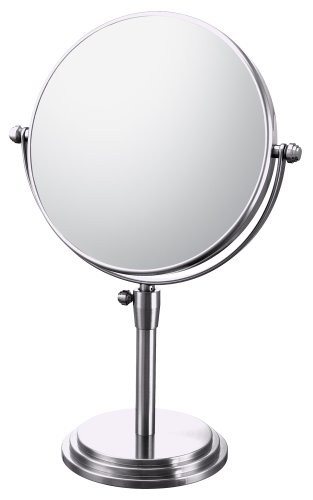 Classic Mirror Adjustable (Mirror Image 81745 Classic Adjustable Vanity Mirror, 7.75-Inch Diameter, 1X and 5X Magnification, Chrome)