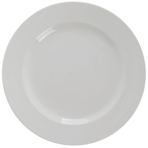 Oneida Dinnerware Undecorated Plate (Buffalo Cream White Undecorated Rolled Edge Plate, 10 1/2 inch -- 12 per case.)