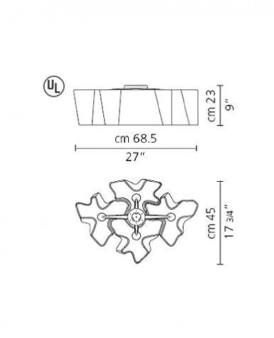 Amazon.com: Logico Mini Cuádruple Nested Lámpara de techo ...