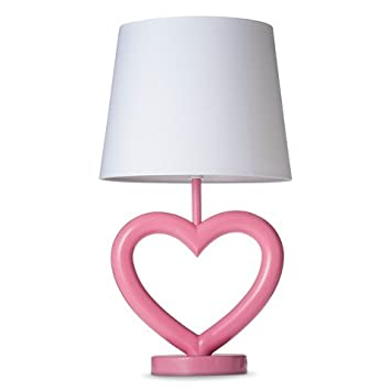 Beautiful Circo™ Heart Lamp With Nightlight   Pink