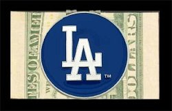 Siskiyou Los Angeles LA Dodgers Logo Moneyclip - MLB Money Clip