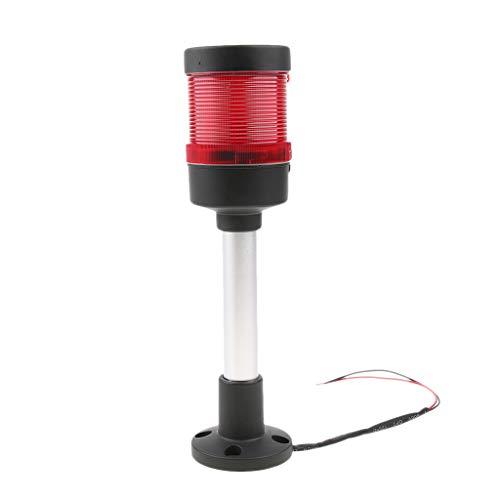 Homyl DC 24V Industrial Warning Light Round Alarm Signal Workshop Beacon Red, Four Light Modes stroboscopic/Rotating/Flashing/Permanent by Homyl (Image #10)