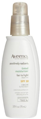 Aveeno Positively Radiant Moisturizer - Fair to Light Skin Tones - 2.5 oz (Positively Radiant Moisturizer compare prices)