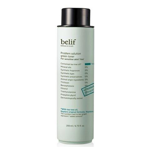 Belif-Problem-Solution-Green-Toner-200ml-Mild-acne-prone-skin