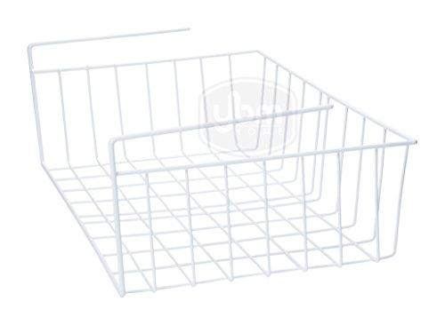Ybmhome Under Shelf Storage Organizer Wire Basket, Kitchen Pantry Wrap Rack White 2223 (1, Large) ()