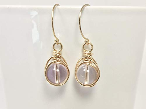Ametrine Earrings 14K Gold Filled Wire And Hooks Ametrine Crystal Gift For Her Gold Filled Dangle ()