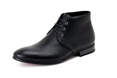 Noir Décontractées Chaussures Taille Habillées Rétro UK Hommes Lacets Cuir Faux Cheville Bottes habilléà JAS ZawtOq4