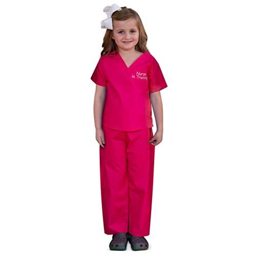Scoots Little Girls' Toddler Scrubs Nurse in Training, Pink, 2T