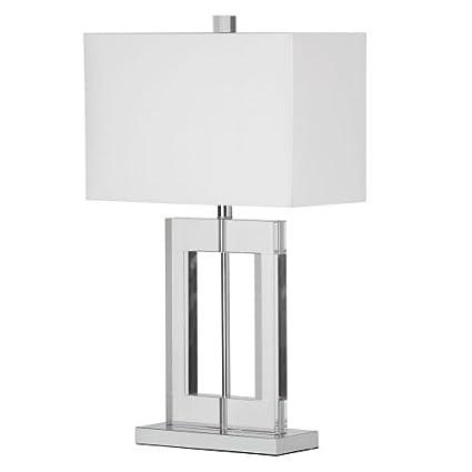 Amazon.com: Dainolite c52t-pc vidrio Lámpara de mesa, C52T ...