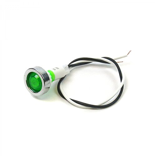 Keep It Clean Wiring Accessories 315190 Green LED Indicator Light 12V Vintage dash part accessory lamp pilot pre wired