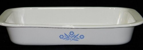 Corning Ware Huge A-76 Open Roaster Cornflower Roasting Pan