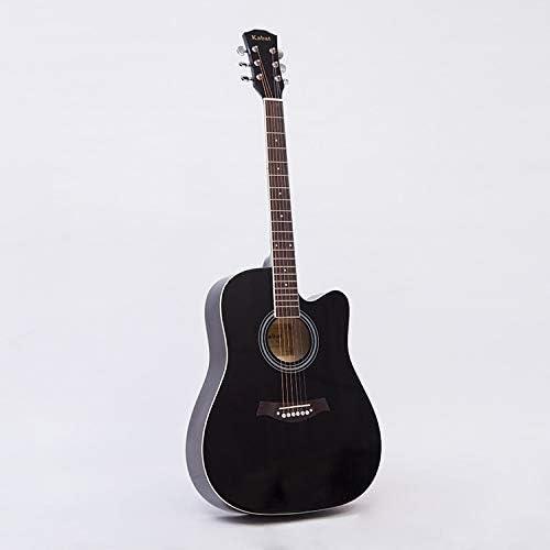 yan 41 Inch Acoustic Guitar Acoustic Guitar 6 Strings Low Hemming GuitarBackpack Picks Beginner Guitar Practice (Color : Black Size : 41 inches) / yan 41 Inch Acoustic Guitar Acoustic Guitar 6 Strings Low Hemming GuitarBackpack Pic...