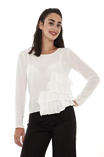 Bianco Donna PATRIZIA con Rouches Blusa PEPE A840 Laterali 8C0237 zqqEO8wxp