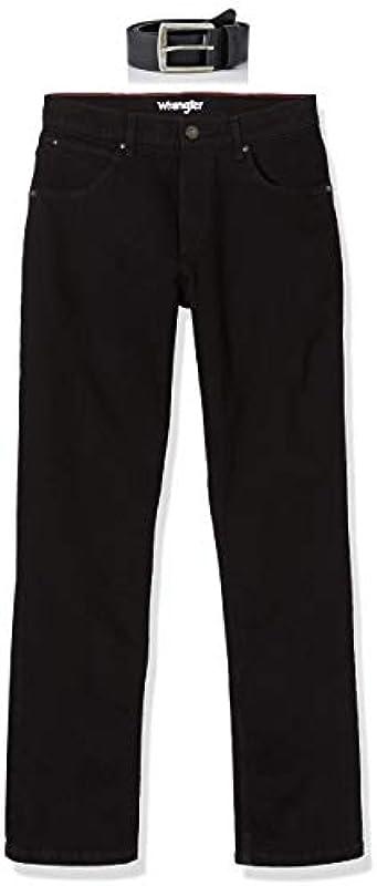 Wrangler Męskie Authentic z paskiem Straight Jeans: Odzież