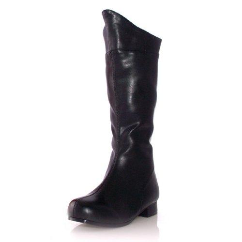 Ellie Shoes E-101-Shazam 1 Heel Superhero Ankle Boot Children Black PU / M ()