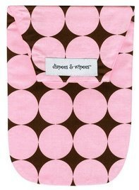 Disco Dot Diaper - Diapees and Wipees Diaper Bag - Pink Disco Dot