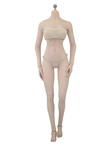 Phicen Super-Flexible Female Seamless Body with Stainlesss Steel Skeleton in Pale 1:6 Figure 26 Points of Articulation (Pale; S10D; Large Breast Size)]()
