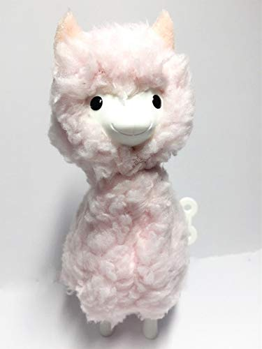 Superior Fuzzy Wind Up Llama Toy, Clockwork Spring Llama, Semi Plush and Semi Mechanical Wind up Toy, Good Buddies Llama Gift for Emotional Relieve for Kids and Adult (Pink)