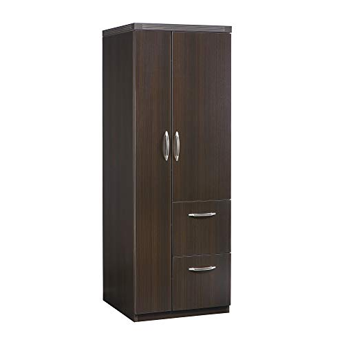 Mayline APSTLDC Aberdeen Personal Storage Tower with 2 Doors and 2 Drawers, Mocha Tf