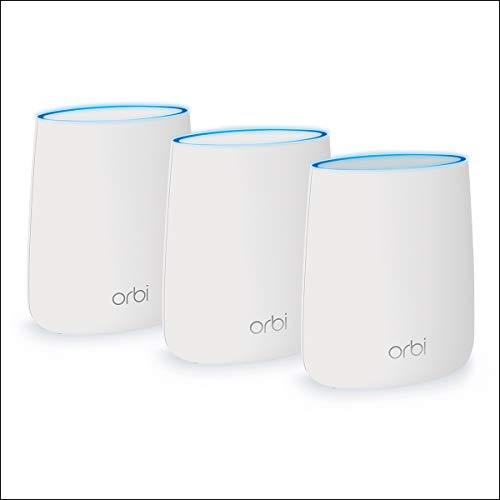 Orbi Home WiFi System. Up to 6,000 sq ft AC2200 Tri-Band WiFi (RBK23) by NETGEAR [WiFi Router & Satellite] (Best Place For Wifi Router)