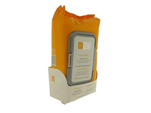 Vitamine C du soin beauté globale lingettes nettoyantes pour Stimulation du collagène et la régénération des cellules (60 chiffons humides)