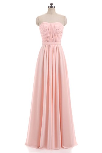 Women's Evening Dress Lilac Prom Line Bridesmaid Gown Chiffon a DKBridal Long A dn4UaW