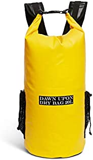 DAWN UPON Waterproof Sack, Dry Bag 20L, 2 Padded Straps! Backpack, Extreme Outdoor Sport Backpack. Perfect for