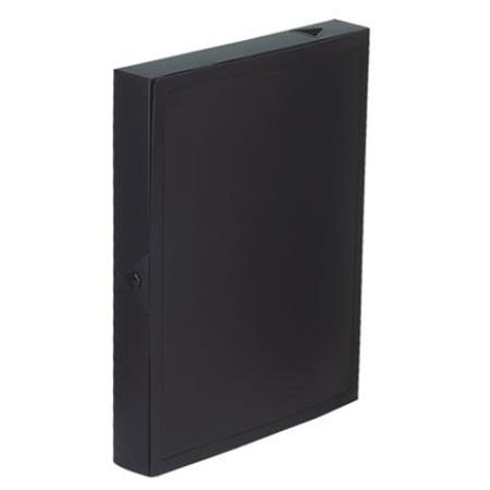 Viquel Class Doc Box File Polypropylene 40mm Spine Black