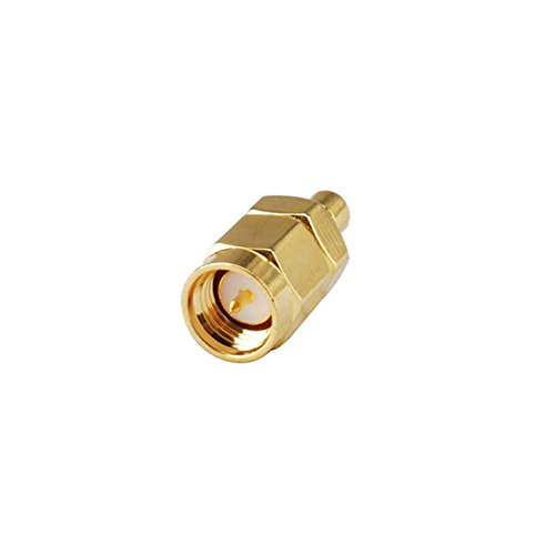 DHT Electronics RF coaxial coax adapter connector SMA male to SMB male ()