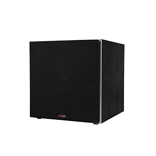 Polk Audio PSW10 10' Powered Subwoofer - Featuring High Current Amp and Low-Pass Filter | Up to 100 Watts | Big Bass at a Great Value | Easy integration Home Theater Systems, Black, Model:AM1055-C