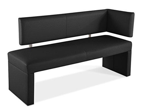 SAM® Esszimmer Ottomane Sofia in schwarz 130 cm komplett bezogen angenehme Polsterung Lieferung mit einem Paketdienst teilzerlegt