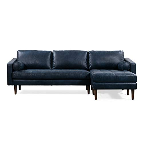 POLY & BARK Napa Right Sectional Sofa in Midnight Blue ()