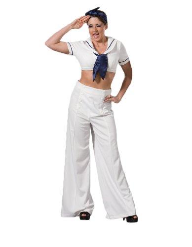 Navy Sailor World War II Pin-Up Girl Theater Costume M White - World War 2 Sailor Costume